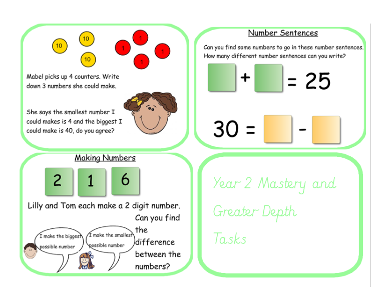 Mastery and Greater Depth in Place Value and Number Year 2