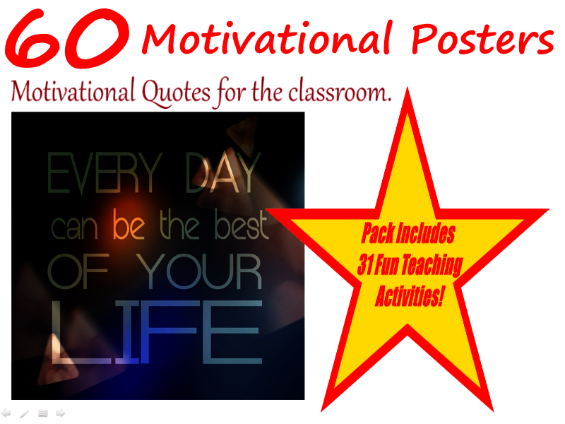 Motivational Road Signs - 60 Funny Motivational Posters + 31 Fun Teaching Activities For These Cards