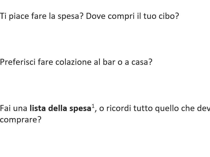 Italian GCSE - Food and Drink Activities