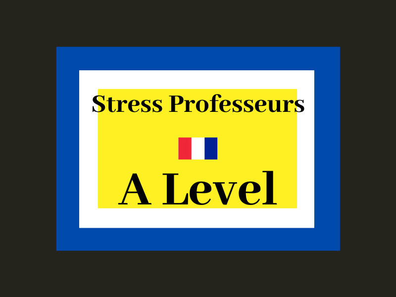 French A Level Education - suicide des professeurs (reading, exam question practice)