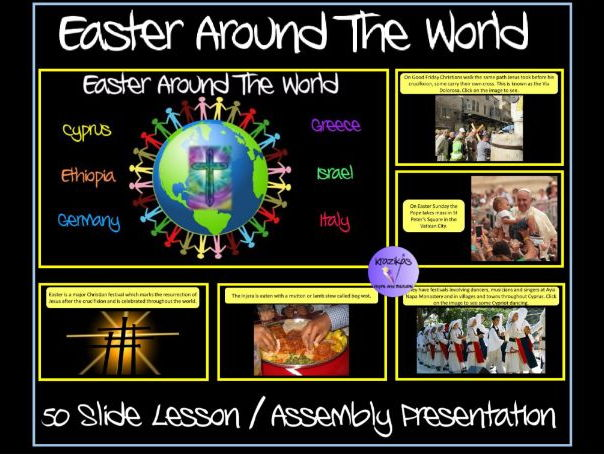 Easter Around The World Presentation - Set 1 - Cyprus, Ethiopia, Germany, Greece, Israel, Italy