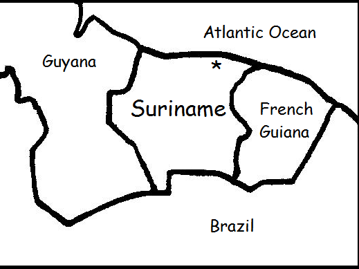 SURINAME - Printable worksheets include a map to color