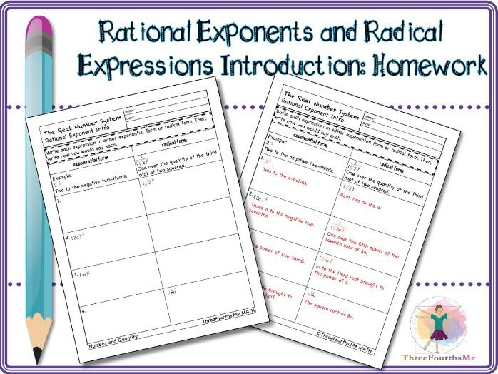 Rational Exponents and Radical Expressions Introduction: Homework