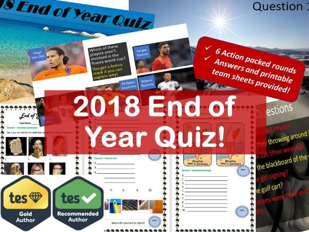 The Ultimate End of Year Quiz 2018