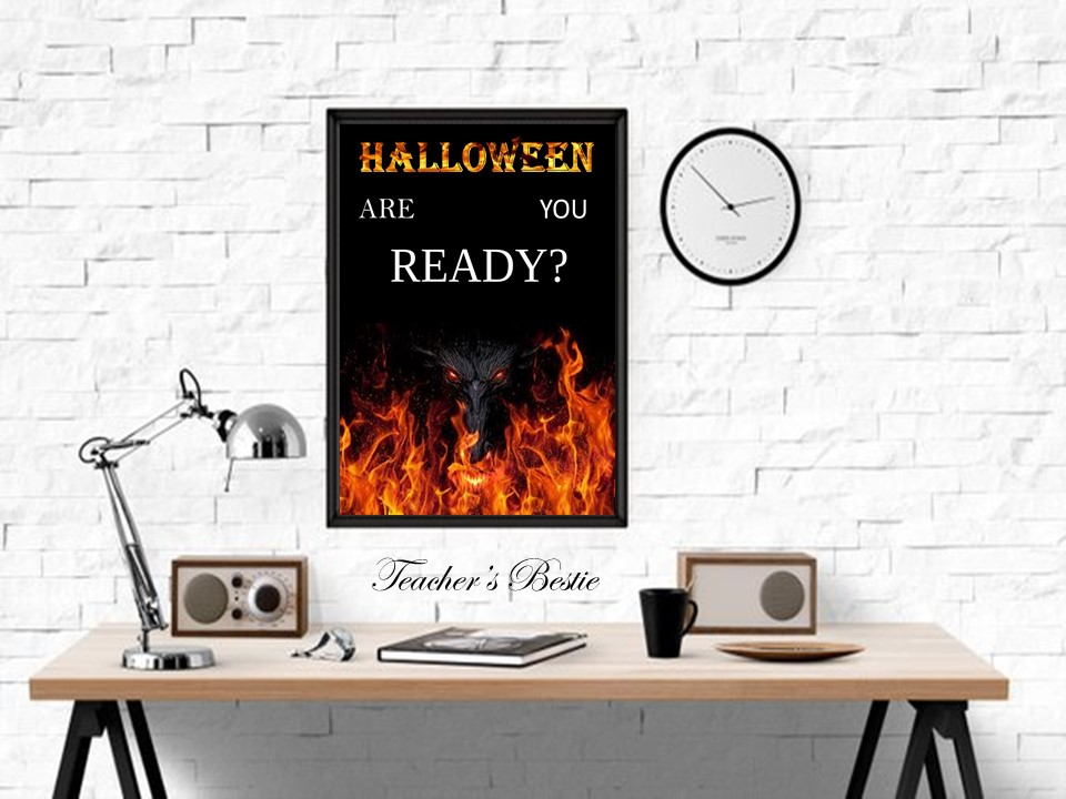 Halloween Decor, Halloween Printable,Sign, Halloween Wall Art, Print, Halloween