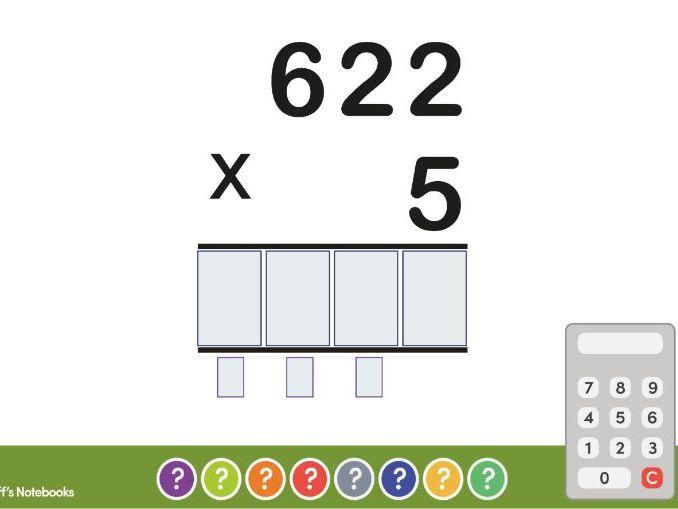 Multiplying 3 Digit by 1 Digit Number. Worksheets + Teaching Page