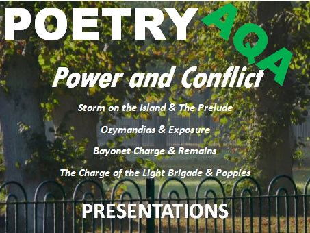AQA GCSE English Literature Power and Conflict Poetry – Exam Revision - Comparative Answers