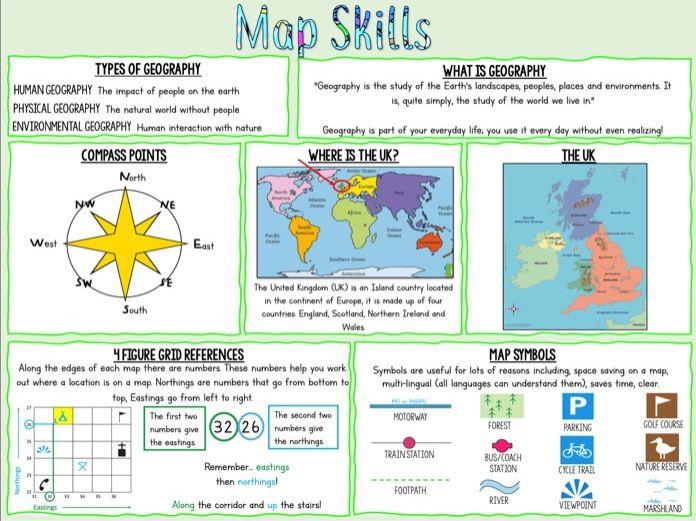 Map Skills Knowledge Organiser
