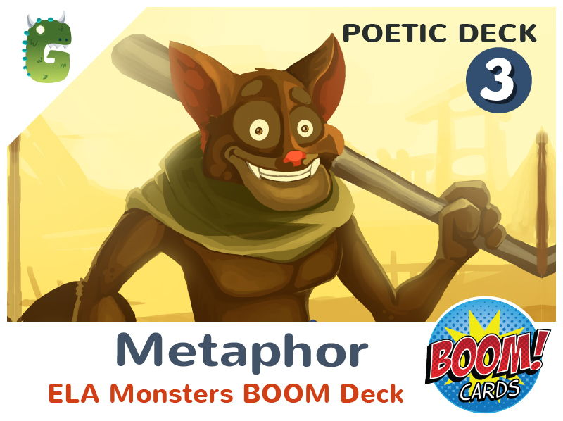 Metaphors Boom Cards (Poetic Language - Deck 3)