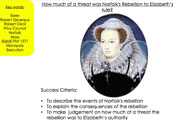 Rebellions against Elizabeth I