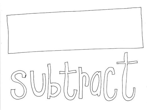 Subtract: Mathematical Symbols Colouring Page
