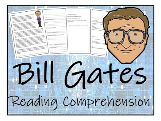 UKS2 Literacy - Bill Gates Reading Comprehension Activity