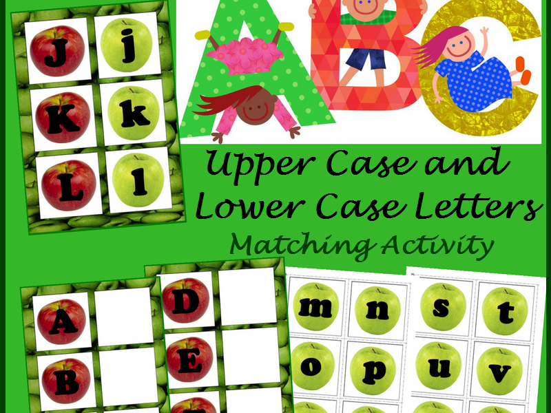 Upper Case & Lower Case Letter Matching Activity- Apples, Fall