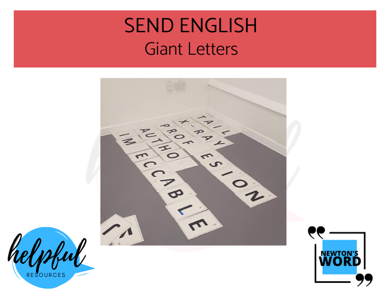 SEND Giant Letters Spelling Game
