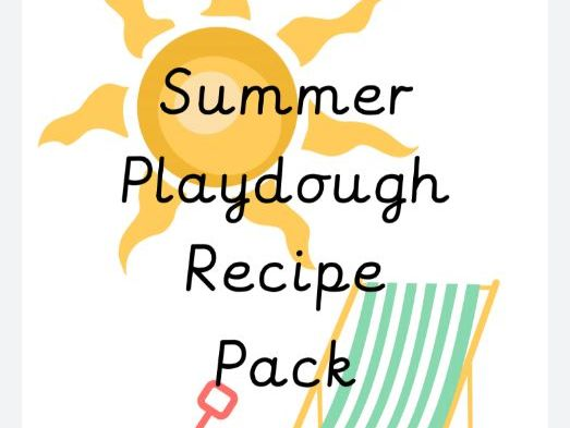 Summer Theme Playdough Recipe Pack
