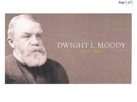 Dwight L. Moody - Evangelist  (1837-1899)