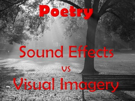 Poetry - Sound Effects and Visual Imagery - Identifying and Analysing Poetry Techniques