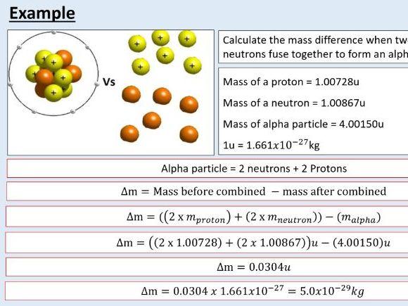 A level Physics (27.1)  Energy and mass (Nuclear energy)