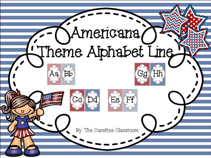 Alphabet Line: Americana Theme