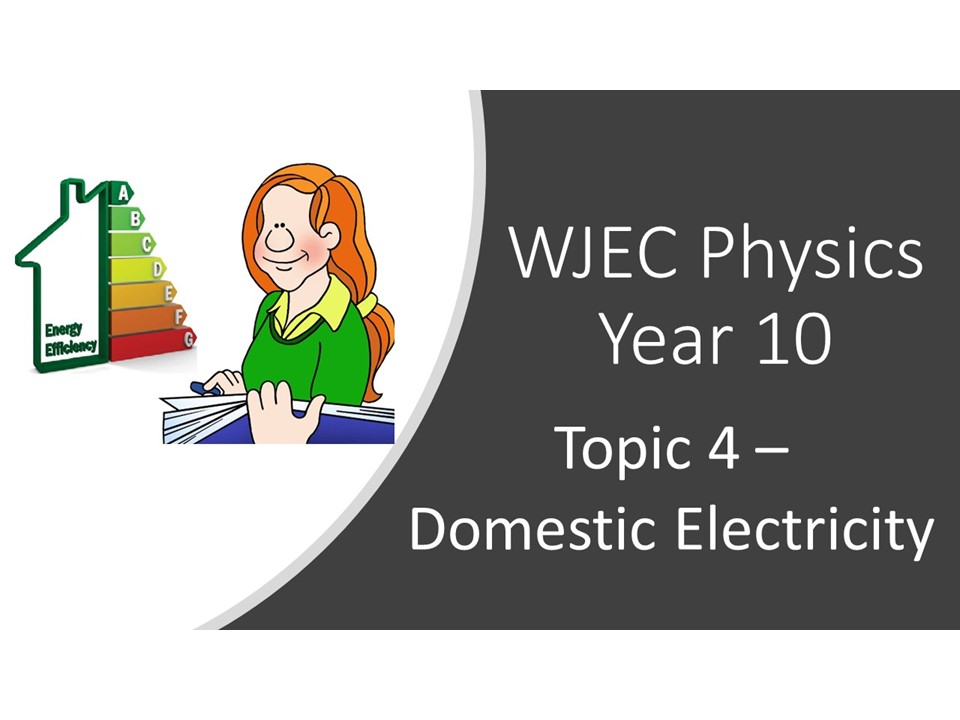 WJEC 1.4 (Triple) / 3.4 (Double) Domestic Electricity whole topic ppt