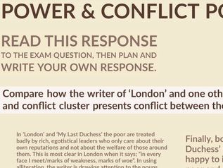 Power & Conflict Poetry: Example Essay