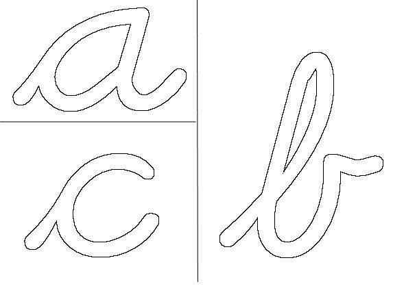 Rainbow Letters, Cursive, Large