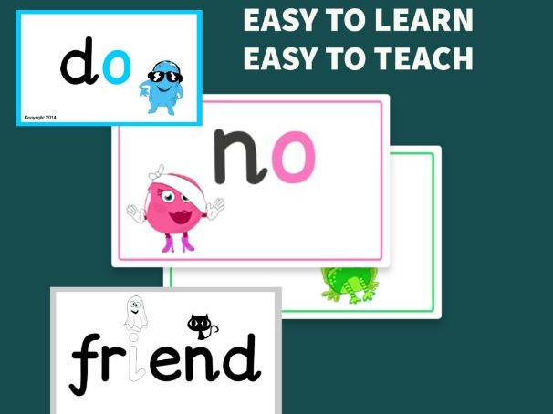 Tricky words Flashcards  - Year 1 Common Exception Words from Monster Phonics