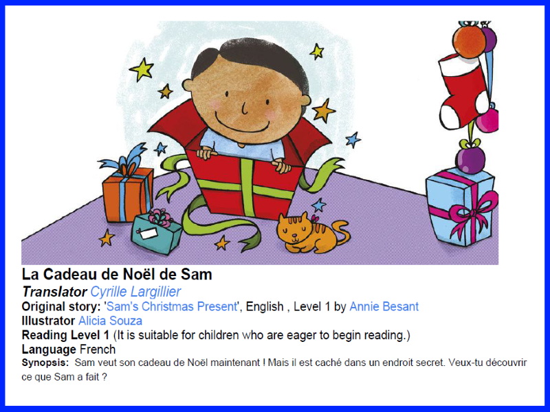 Super Simple French Guided Reading Scheme For Beginners - La Cadeau de Noël de Sam
