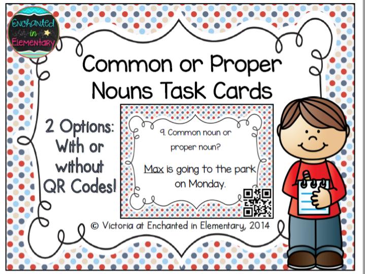Common or proper nouns task cards by enchantedinelementary cover image stopboris Choice Image