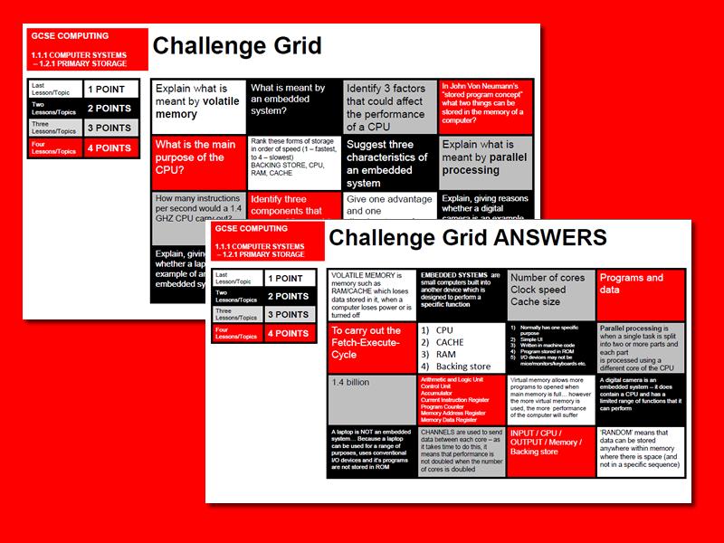 OCR GCSE Computing Retrieval Grid#1