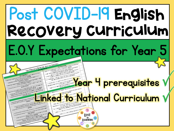 Post-COVID Year 5 English Expectations (Recovery Curriculum)
