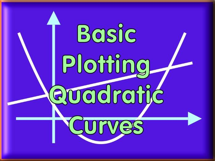 Plotting Quadratic Curves - with answers