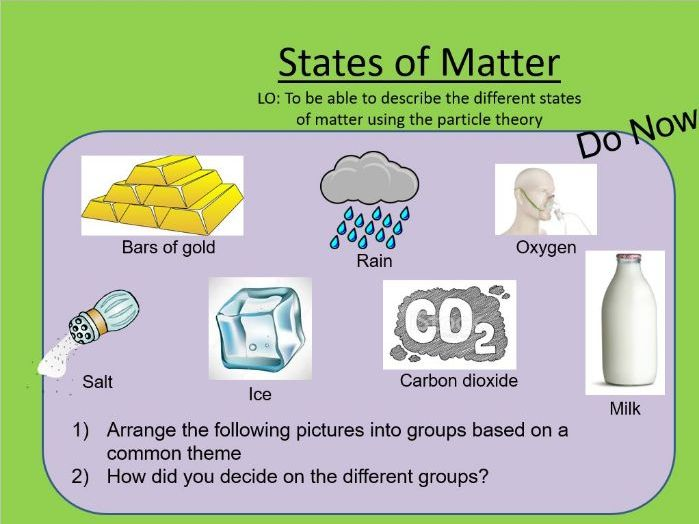 AQA GCSE Chemistry - States of Matter and State Symbols. Specification code 4.2.2.