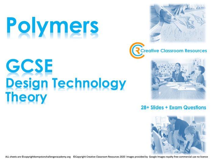 GCSE DT Theory (New Spec) – Types of Polymers (Plastics)