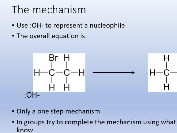Nucleophilic Substitution - Halogenoalkanes
