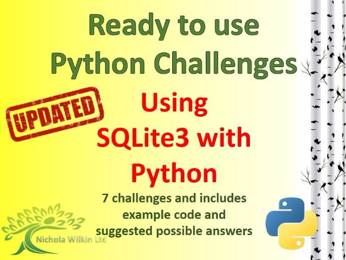 Python creating and using an SQL database with SQLite3