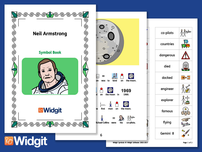 Neil Armstrong - Books and Activities with Widgit Symbols