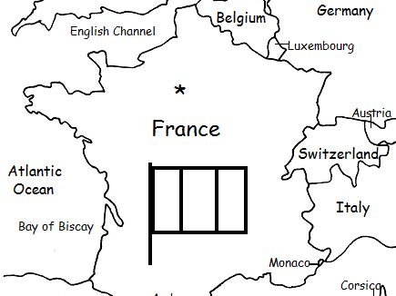 France Map Flag.France Printable Handout With Map And Flag By Tspeelman Teaching