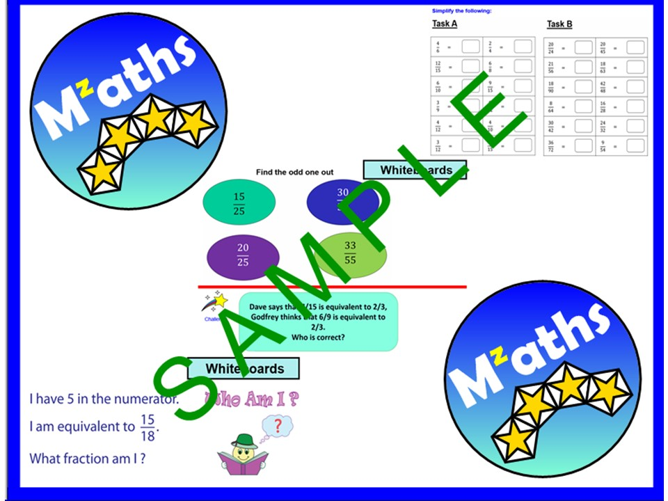 Fractions (2 Lessons) - Equivalent/Simplifying/Comparing