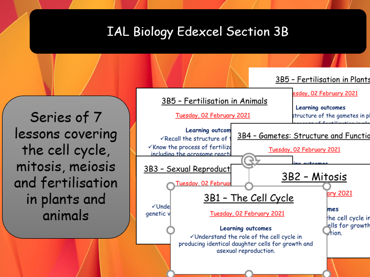 IAL Edexcel Biology 3B Mitosis, Meiosis and Reproduction