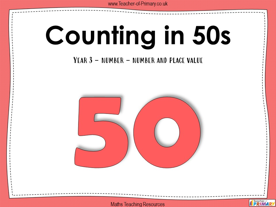 Counting in 50s - Year 3
