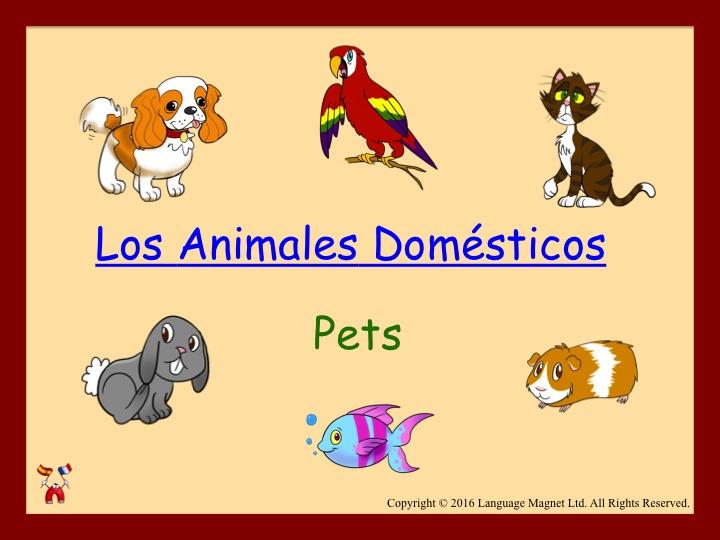 Spanish Pets Audio Sheet