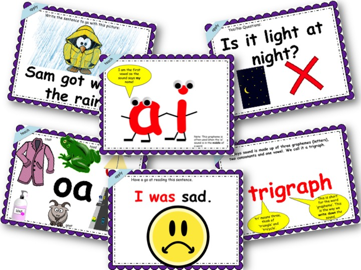 Phonics Powerpoint, Phase 3, Week 4 (ai, ee, igh, oa)