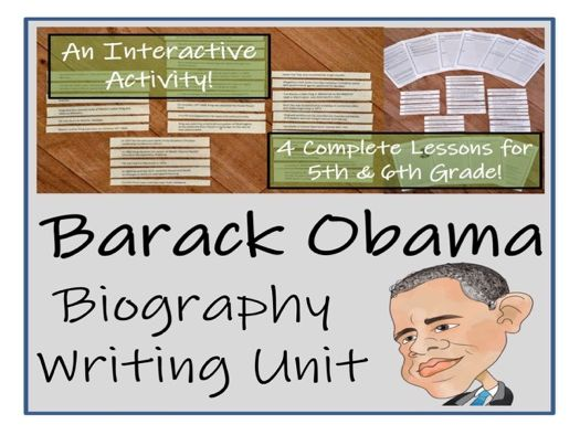 UKS2 Literacy - Barack Obama Biography Writing Unit