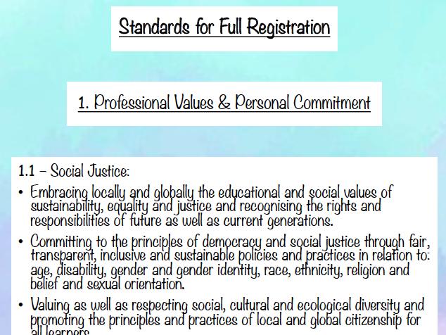 GTCS Teaching Standards