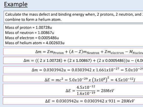 A level Physics (27.2)  Binding energy (Nuclear energy)