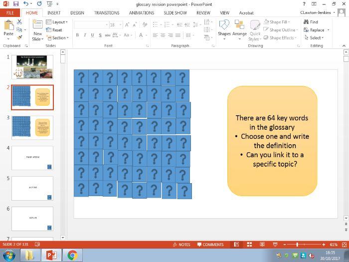 Eduqas/WJEC Islam A2 Glossary Revision Tool