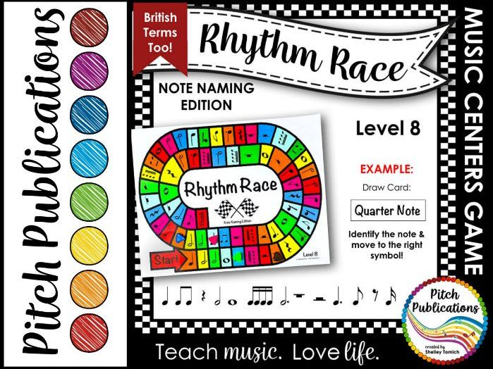 Music Centers: Rhythm Race Note Naming Edition Level 8 - Rhythm Game