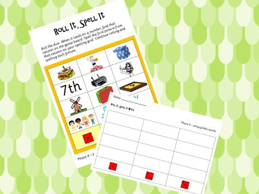 Phonics Phase 4 Roll It Spell It