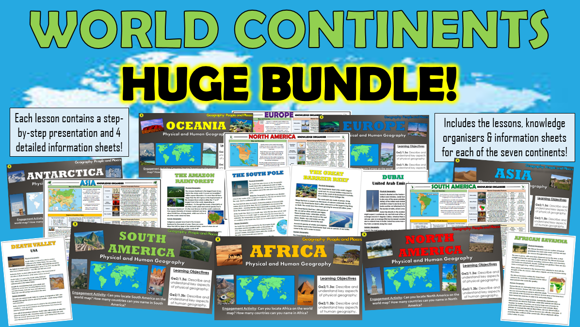 World Continents - Huge Bundle!